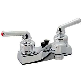 Chrome Finish Lavatory Faucet with Teacup Handles
