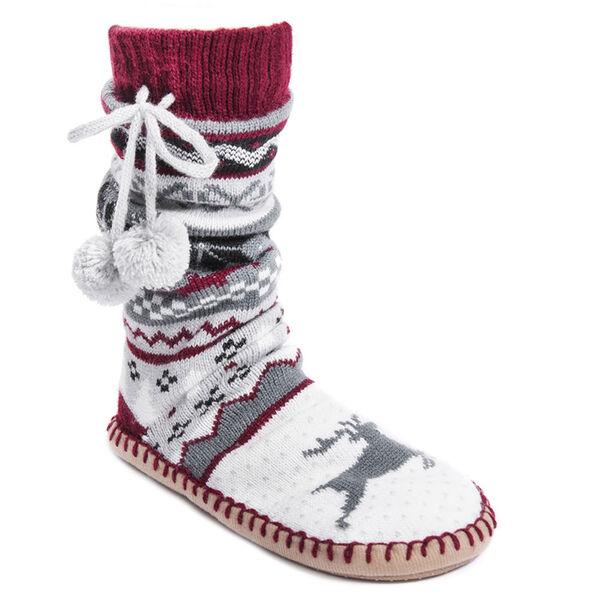 Muk Luks Women's Slipper Sock With Poms