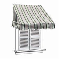 ALEKO 8x2 Multistripe Green Window Awning Door Canopy 8-Foot Decorator Awning