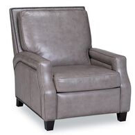 Peyton Leather Recliner, Cortina Light Gray