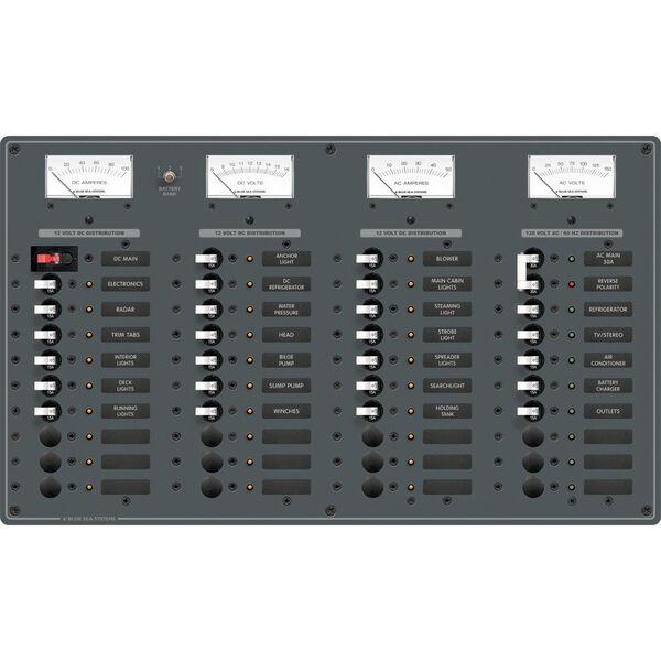 Blue Sea AC Main/DC Main Toggle Circuit Breaker Panel, Model 8195