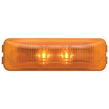 LED Thinline Marker/Clearance Light; Base and Mounting Hardware Included; Amber, Sealed; 1 Diodes