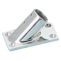 Whitecap Rectangular Base Rail Fitting, Stainless Steel 45°