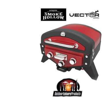 Smoke Hollow Vector Series Smoking Tabletop 3-Burner Gas Grill