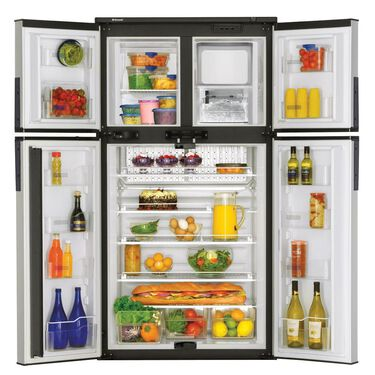 Dometic Elite 2+2 Refrigerator - Black Stainless Steel Doors