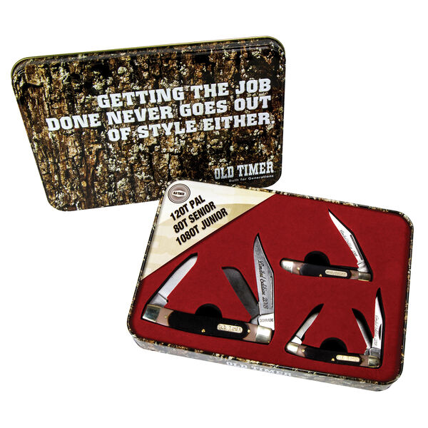 Old Timer Limited Edition 3-Piece Folding Knife Set