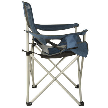 Venture Forward Folding Chair With Adjustable Lumbar Support, Blue/Gray