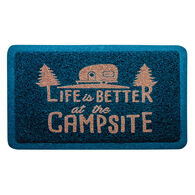 "Life is Better Mat, Navy, 26 1/2"" x 15"""