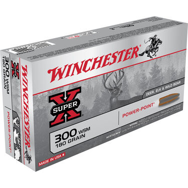 Winchester Super-X Rifle Ammo, .300 WSM, 180-gr., PP