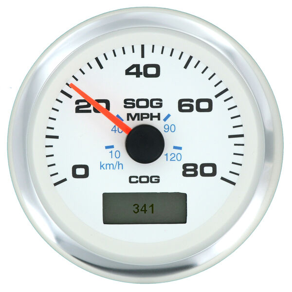"""Sierra White Premier Pro 3"""" GPS Speedometer With LCD, 80 MPH"""