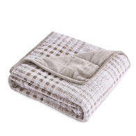 """Dream Theory Velvet 12-lb. Weighted Throw Blanket, Cashmere, 48"""" x 72"""""""