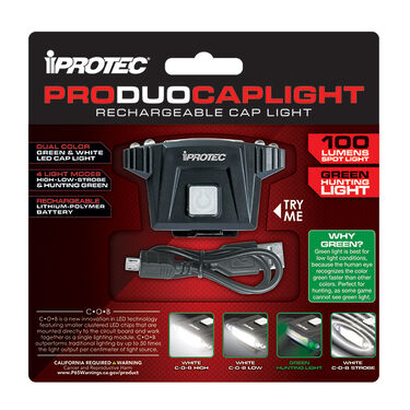 iProtec ProDuoCapLight Rechargeable Cap Light