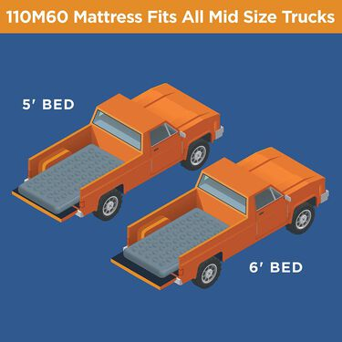 Mid Size Truck Bed Air Mattress, 5' to 6'