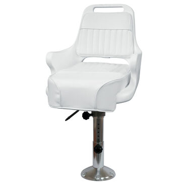 "Wise Ladder Back Pilot Chair w/12""-18"" Adjustable Pedestal and Seat Slide"
