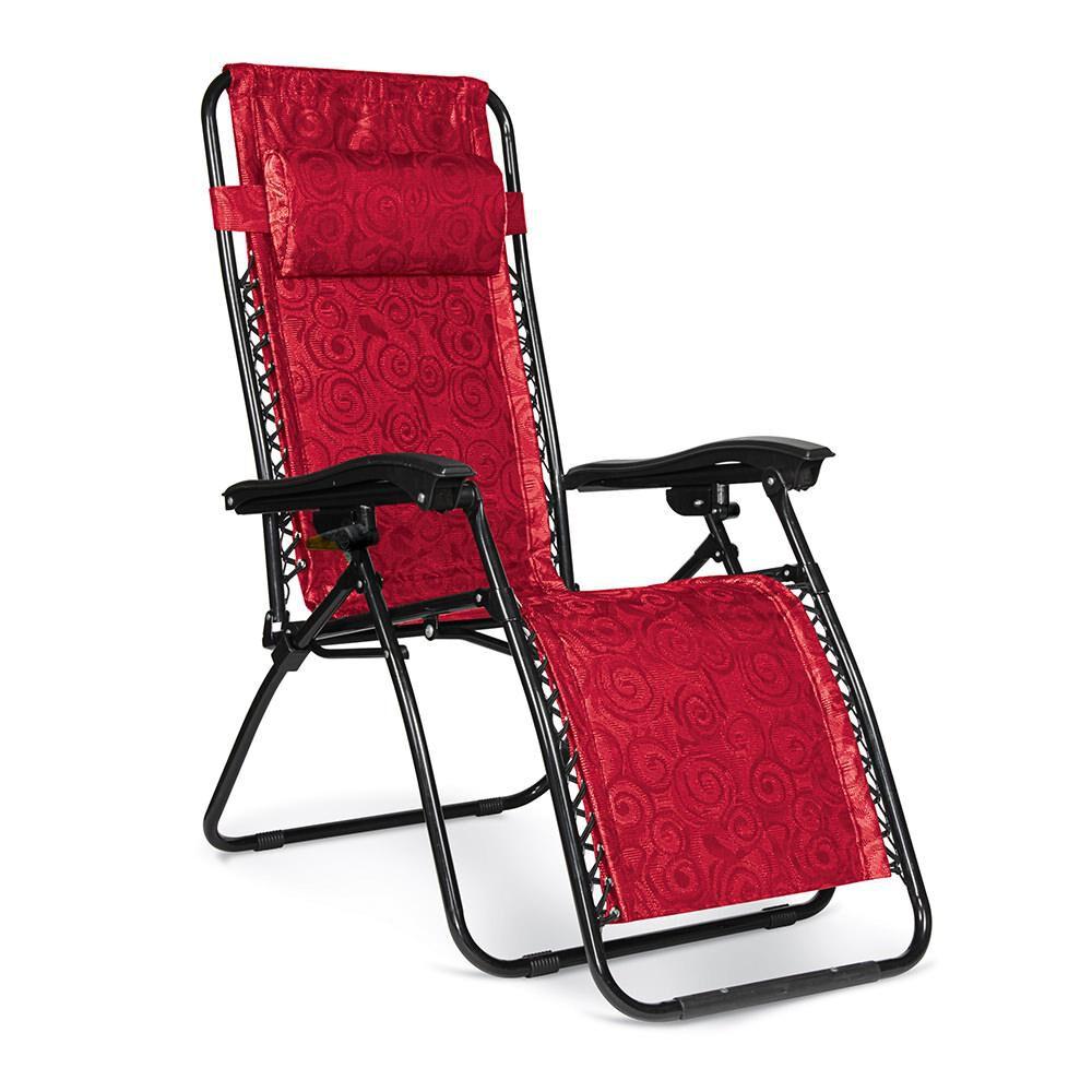Zero Gravity Chair Regular Red Swirl Camping World