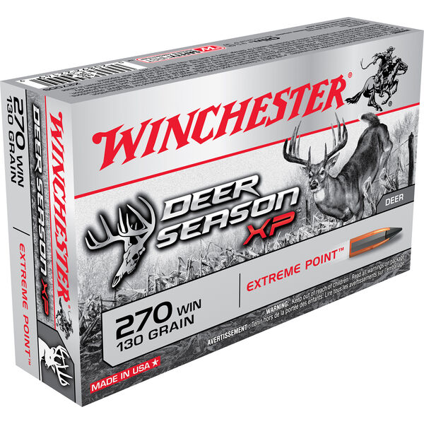 Winchester Deer Season XP Rifle Ammo, .270 Win, 130-gr., Extreme Point