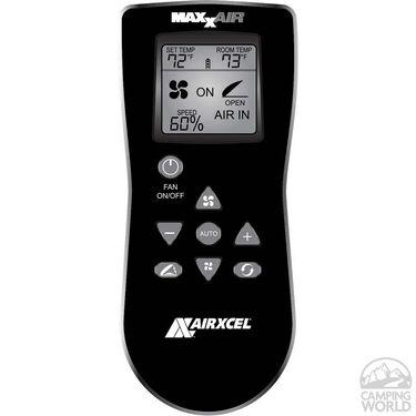 MaxxFan Deluxe Remote Control RV Ventilator System, Smoke Lid