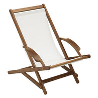 Whitecap Teak Sun Chair With White Batyline Sling