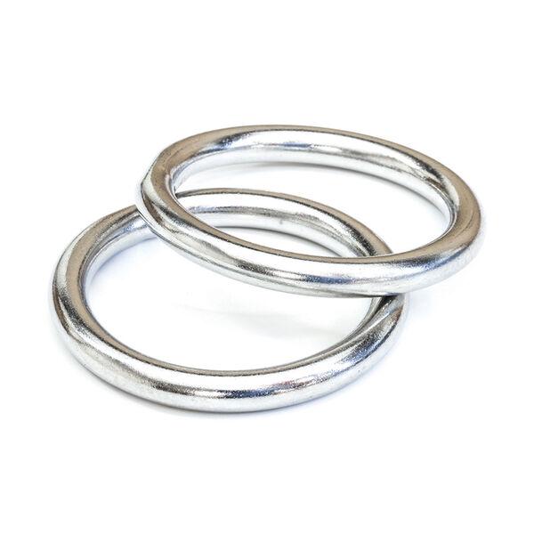 Tigress Stainless Steel Rings, Pair