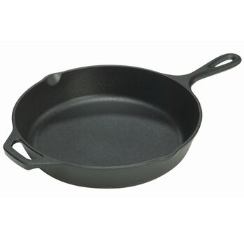 """Lodge Cast Iron Seasoned Skillet with Assist Handle, 12"""""""