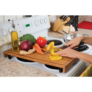 Stove Top Work Surface, Bamboo (Two-Burner)