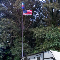 Flagpole Kit and Camp Locator with Bluetooth Control