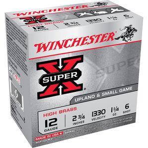 "Winchester Super-X High Brass Ammo, 12-ga., 2-3/4"", 1-1/4 oz., #6"
