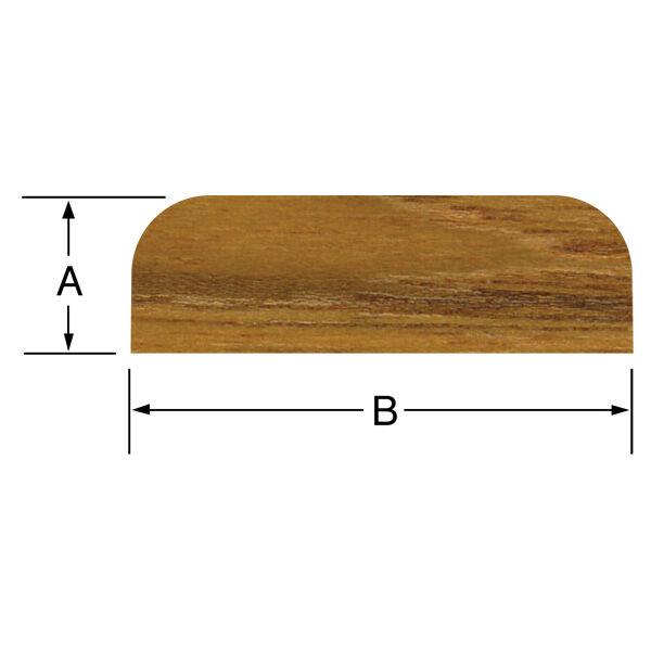 """Whitecap Teak Teak Batten, 5'L x 1-7/8""""W (B) x 3/8"""" thick (A)"""