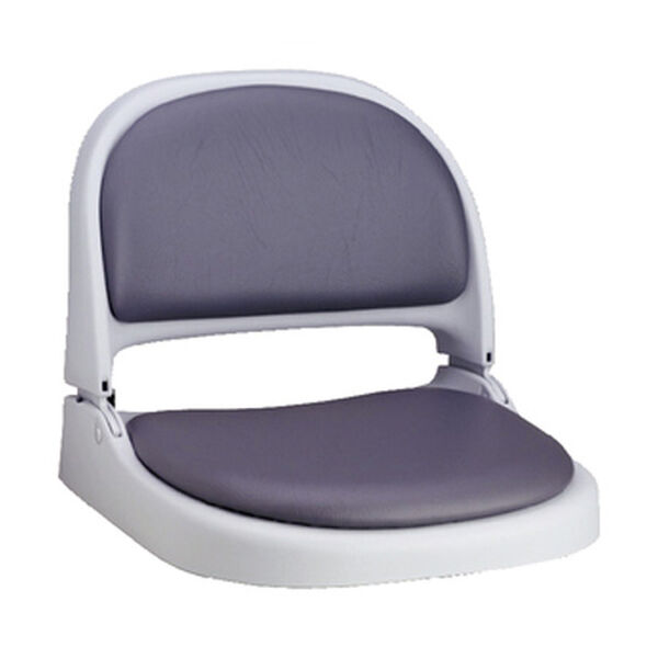 Attwood Proform Gray Fold-Down Boat Seat With Gray Vinyl
