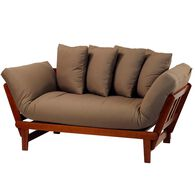 Casual Lounger Sofa Bed, Oak/Khaki
