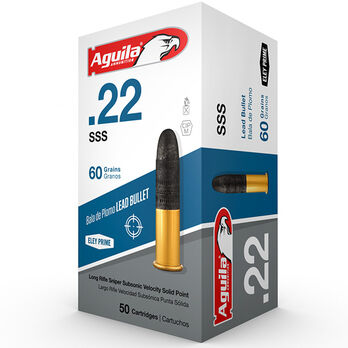 Aguila Sniper Rimfire Ammunition, .22 LR, 60-gr., Subsonic Lead Solid Point
