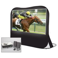 """Sima 84"""" Portable Projection Pop Up Screen Theater Kit"""