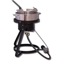 """16"""" Outdoor Cooker w/ Stainless Steel Fry Pan and Basket"""