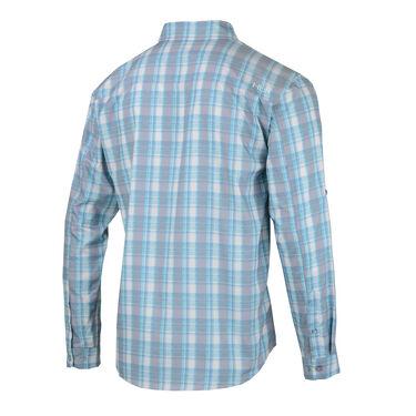 HUK Men's Tide Point Woven Plaid Long-Sleeve Shirt