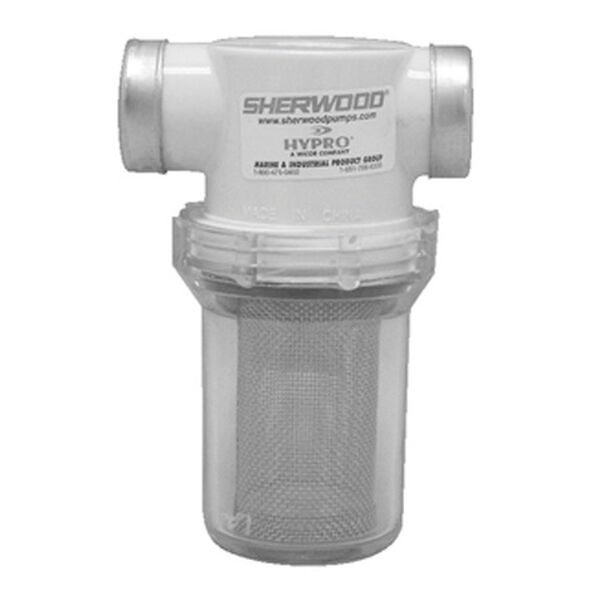 "Sherwood Sea Water Strainer, 1-1/4"" Port Size"