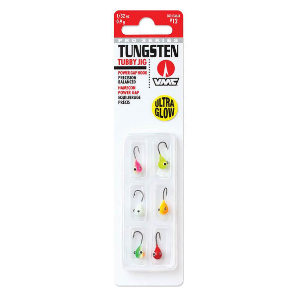 VMC Tungsten Tubby Jig Kit, Ultra Glow