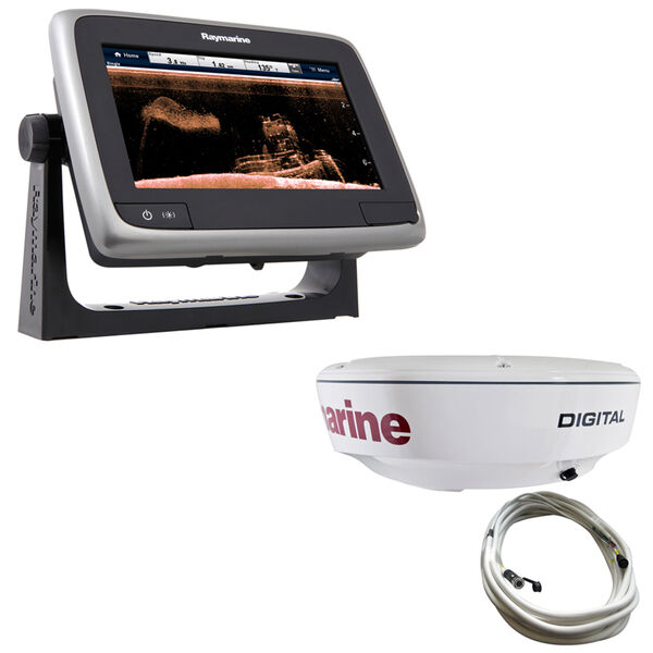 "Raymarine a78 MFD With TM CPT-100 Transducer And 18"" RD418D Dome Radar"