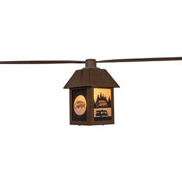Metal Happy Camper Light Set, 10 Lights, 11' Cord