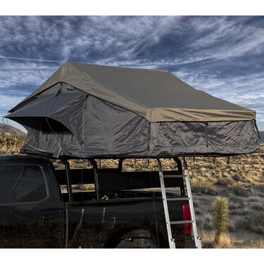 Nomadic 4 Extended Roof Top Tent, Dark Gray and Green
