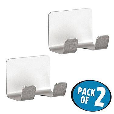 AFFIXX  Aluminum Bathroom Hooks, 2 Pack