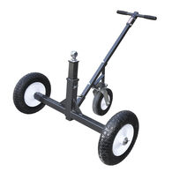 Tow Tuff Heavy-Duty Adjustable 3-Wheel Trailer Dolly with Caster