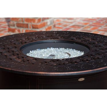 Dynasty Round Cast Aluminum LPG Fire Pit