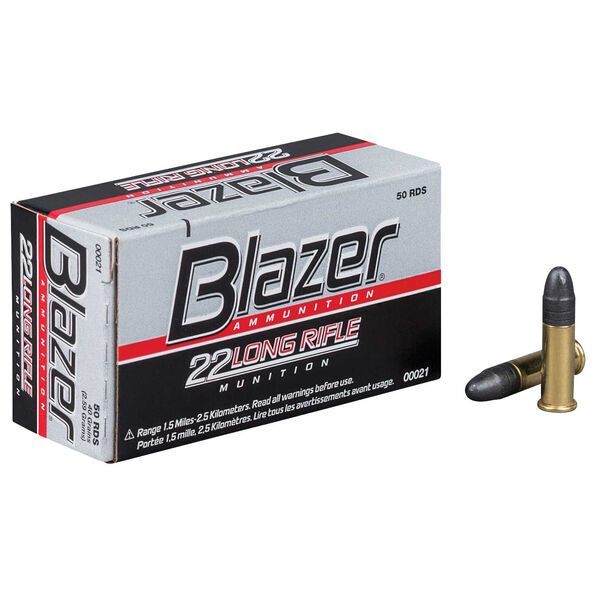 Blazer .22 Long Rifle Ammunition, .22 LR, 40-gr., HS