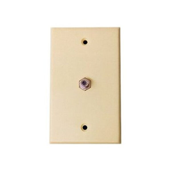 Exterior 75-Ohm TV Outlet, AC Passive - Ivory