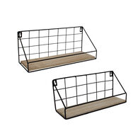 Home Expressions 2-Piece Wire Wall-Mounted Shelf Set