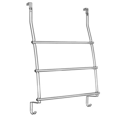 Over Door 3 Bar Towel Rack - Chrome