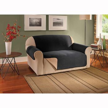 Reversible Waterproof Fleece Protector, Loveseat, Seat Width- 46""