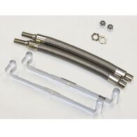"Dual Tire Inflators - Hand Hole Mount Stainless Steel - 2 hose kit for 16""-19.5"" inner dual wheels"