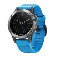 Garmin Quatix 5 Marine GPS Smartwatch With Blue Silicone Band