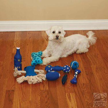 8 Piece Pet Toy Set, Blue